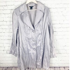 Lane Bryant Metallic Trench Jacket